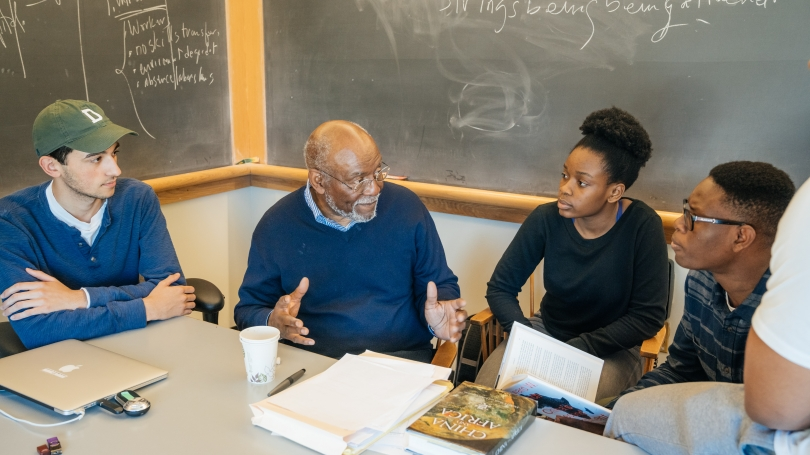 Johnnie Carson with students