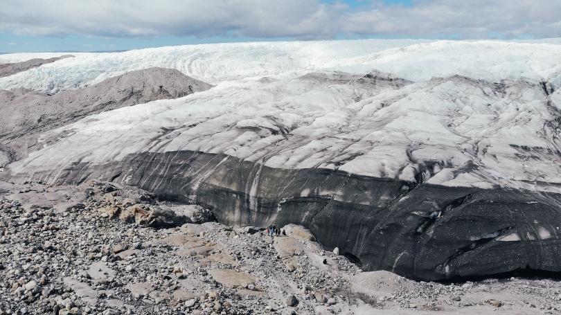 Greenland's snowy landscape.