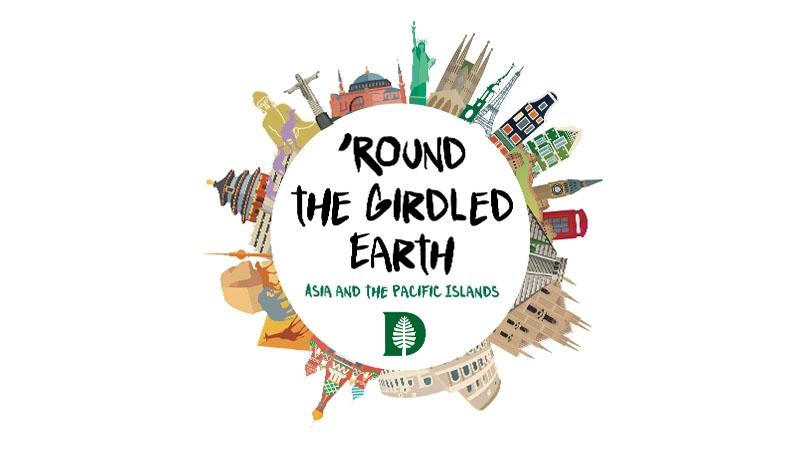 Round the Girdled Earth logo