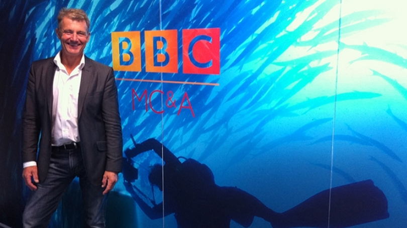 Paul Rose poses for a picture at BBC America.