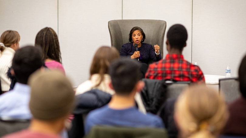 Susan Rice visiting with Great issues Scholars in 2019!