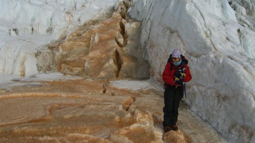 Jill Mikucki in Antarctica