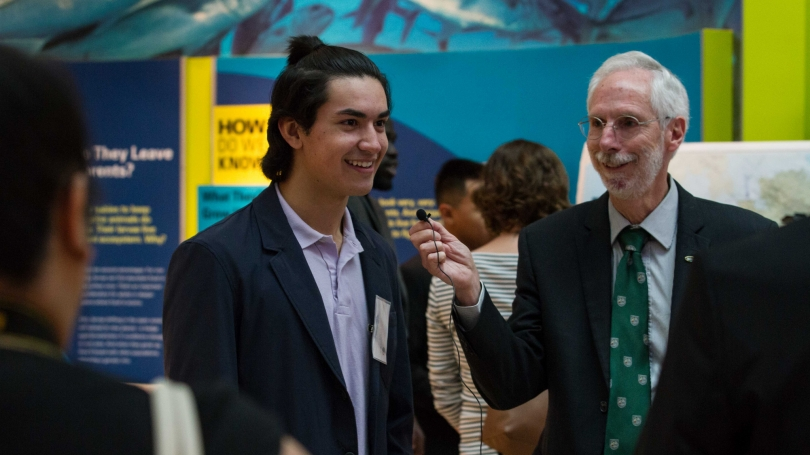 Ross Virginia with Fulbright student