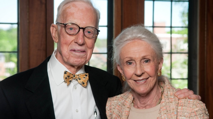 """): Norman E. """"Sandy"""" McCulloch Jr. '50, pictured with his wife, Dorothy, died over the weekend."""