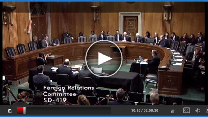 Benjamin at Senate hearing