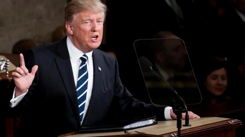 Trump addressing congress